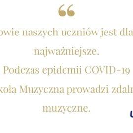<p>COVID-19 – Zdalne zajęcia</p>