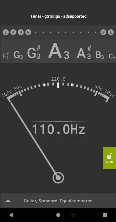 gstrings android, tuner muzyczny, aplikacje przydatne w nauce muzyki