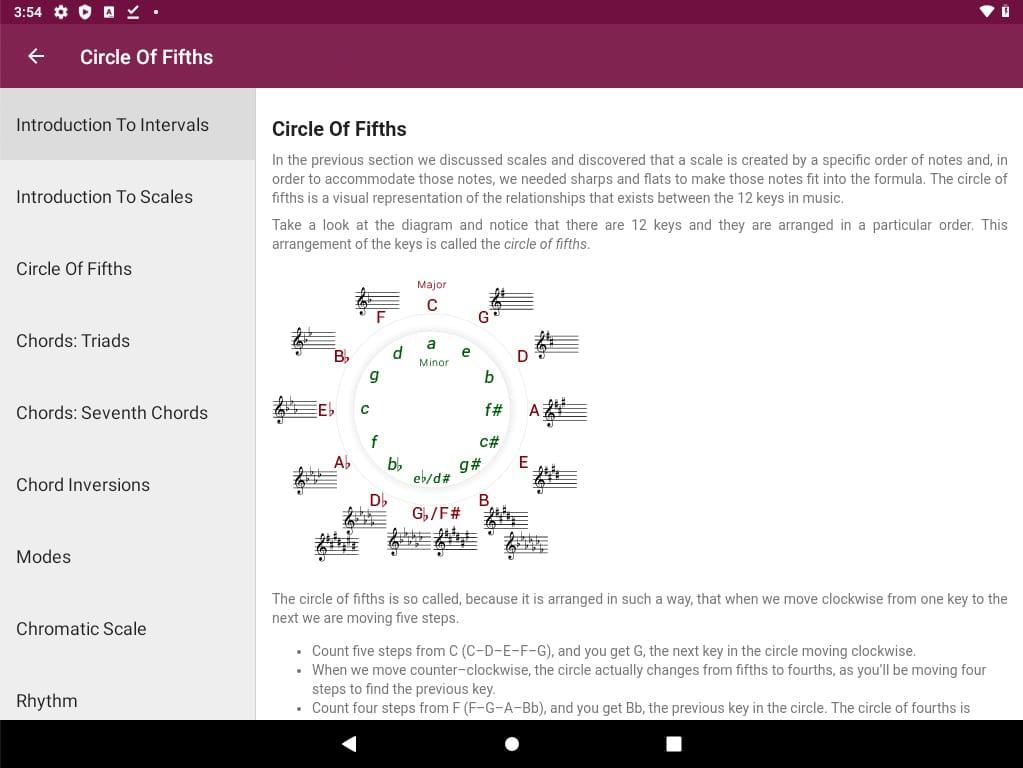 aplikacje przydatne w nauce muzyki, Perfect Ear, Android