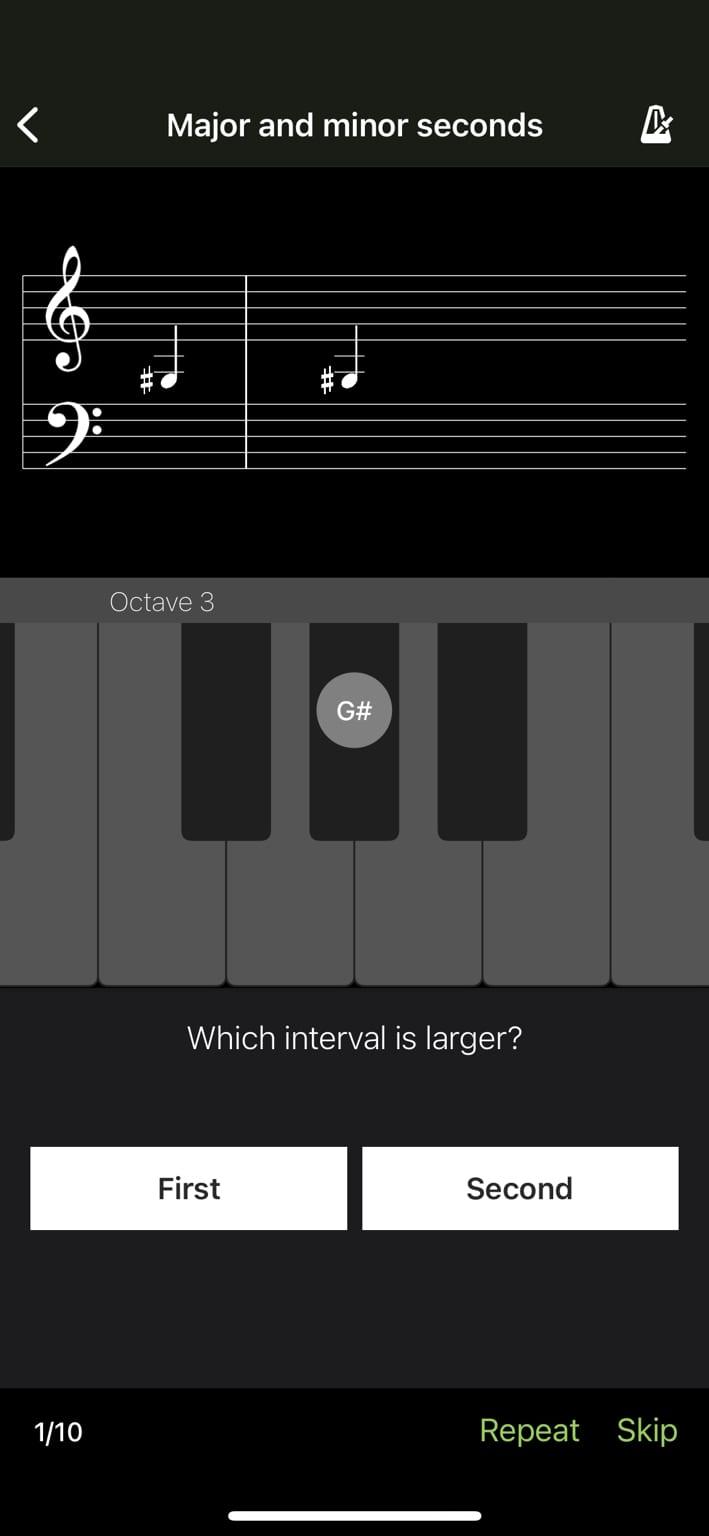 Perfect Ear, aplikacje przydatne w nauce muzyki