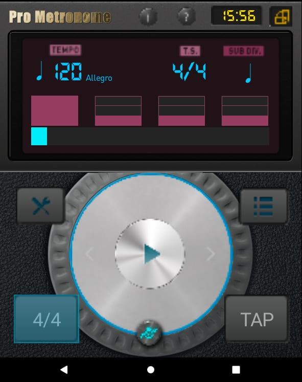 aplikacje przydatne w nauce muzyki, Pro Metronome, Aplikacja Muzyczna Android