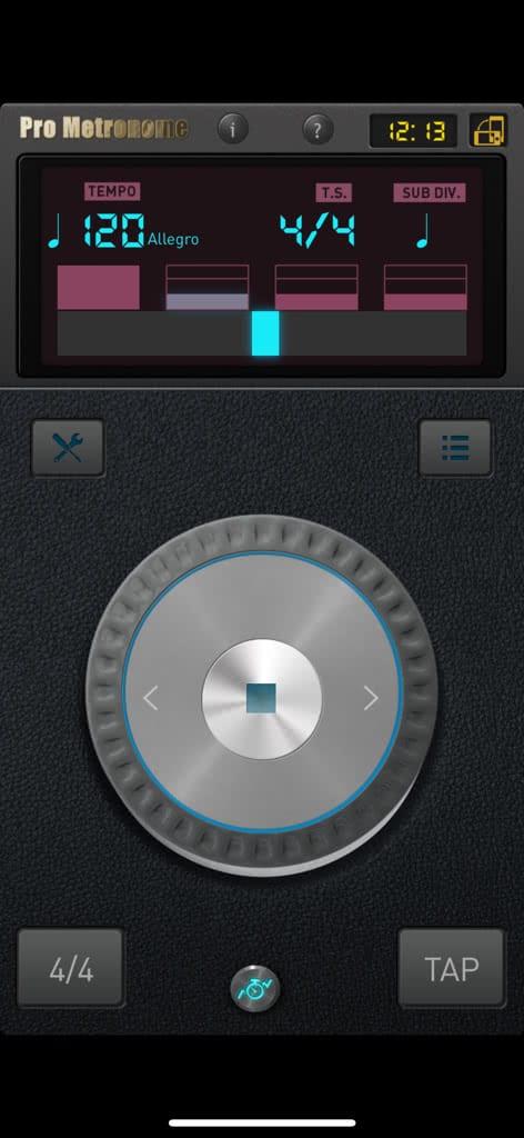 Pro Metronome ios, aplikacje przydatne w nauce muzyki