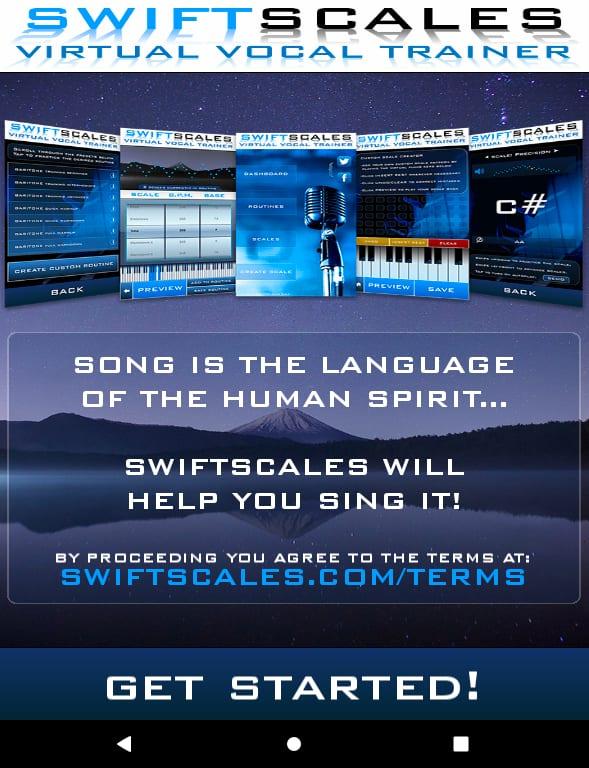 aplikacje przydatne w nauce muzyki, Swift Scales, Aplikacja Muzyczna Android