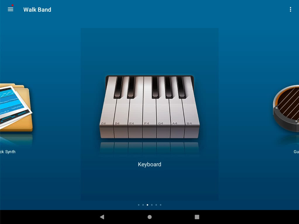 aplikacje przydatne w nauce muzyki, Walk Band Music, Aplikacja Muzyczna Android