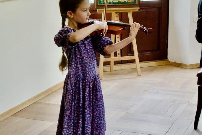 uczennica klasy skrzypcowej Unisono, Pałacyk Fangora PAN - koncert